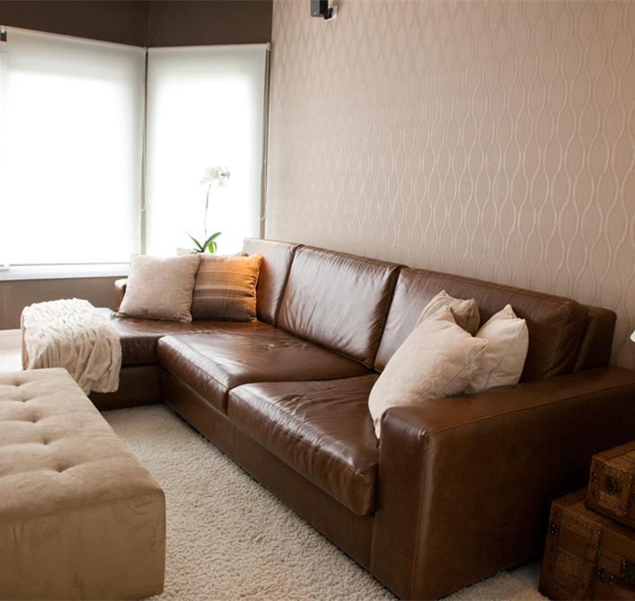 Papeis de parede liso e com estampa geometrica