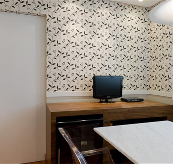 Papel de parede estampado com textura