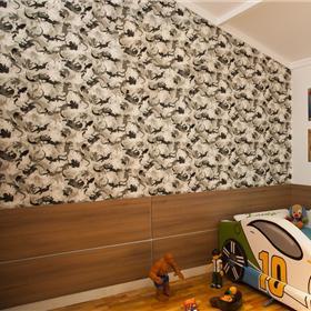 Papel de parede estampado com textura lisa.