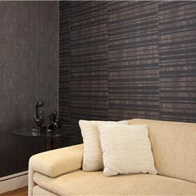 Papel de parede listrado e liso com textura